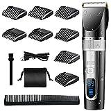 Haarschneider, Haarschneidemaschine Herren Wiederaufladbarer Kabelloser Haartrimmer Barttrimmer Elektrischer Rasierer Haarschneide Set mit LED-Display