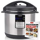 Zavor LUX Edge 8 Quart Multi-cooker with America's Test Kitchen Multicooker Perfection Cookbook, Stainless Steel