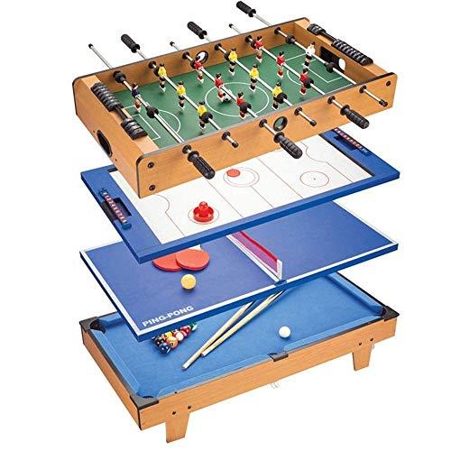 Luorizb Multifunktionale Brettspiel Set 4 in 1 Foosball Billiardtisch Kinder Junge Eltern-Kind Doppelkampf Familie Spielzeug
