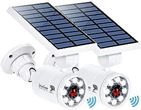 Solar Motion Sensor Light Outdoor of 2, 1400-Lumen 9-Watt(110W Equ.) LED Spotlight, Aluminum Solar Flood Security Emergency Lights for Driveway Patio Garden, 100-Week 100% Free Replacement