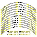 Tdz Motos Ruedas Neumático Pegatinas Reflectantes Lamer Tiras de Cinta de película Adhesivos Moto por Yamaha MT-07 (Color : 240205)