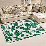 SunsetTrip Tropical Banana Tree Leaves Alfombra para sala de estar, dormitorio, alfombra moderna, antideslizante, suave al tacto, extra grande, lavable, 78,7 x 50,8 cm