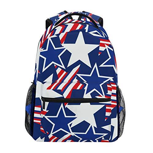 DXG1 Zaino Bandiera Americana Stella Donne Uomini Ragazzo Ragazzo Scuola Borsa Bookbag Casual Borsa Daypack Forniture