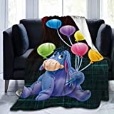 DISGOWONG Eey-Ore Plush Anime Throw Blanket Cute Fleece Blanket for Bed Sofa Livingroom Bedroom Home for Adult Kids Gift 50'×40'