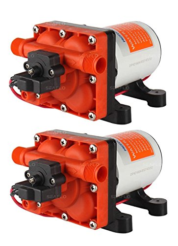 SEAFLO Dual 42-Series Water Pressure Diaphragm Pumps w Variable Flow for Reduced Cycling - 12V, 6.0GPM (3.0GPM Each), 55PSI