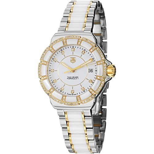 Tag Heuer Formula 1 Diamond Dial Steel and Ceramic Ladies Watch WAH1221BB0865
