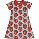 Maxomorra Girl Kleid Kurz Strawberry 98/104