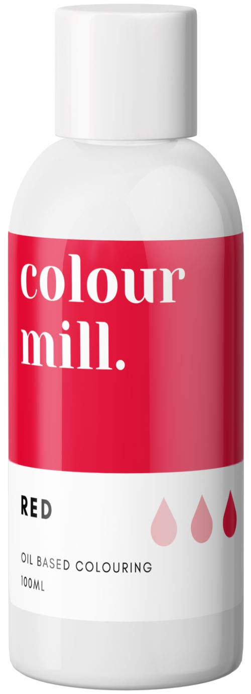 Colour Mill Oil-Based Food Coloring, 100 Milliliters Red