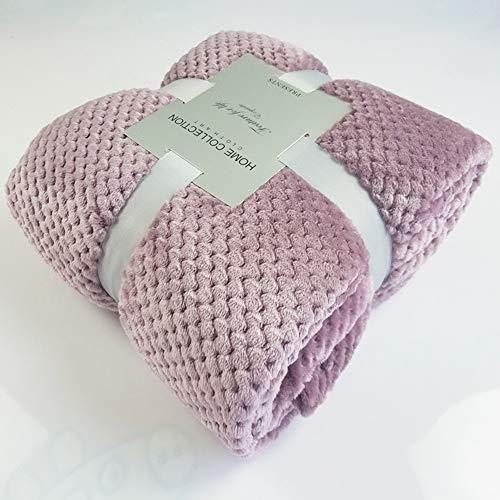 AaaSue - Manta de Franela para Cama de Lujo, Grande, Reversible, de Microfibra, Suave y esponjosa, cálida, Manta de sofá Cama, Rosa Oscuro, 120 * 200cm