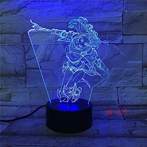 3D-Illusionslampe führte Nachtlicht Wunder Frau DC Dekoration Schlaf Schlafzimmer Schlafzimmer7 Farbwechsel Junge Kind Mädchen Rc Weihnachtsgeschenk Spielzeug