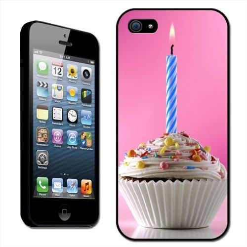 Fancy A Snuggle harde case voor Apple iPhone 5 (opsteekbaar) verjaardagsmoffin met strooisel en brandende kaars