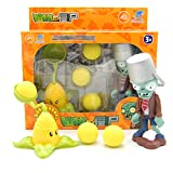Plants PVC Toys Zombies Ejection Toy Gift Box,Halloween Toys For Kids,Desktop games Party game,Kernel-Pult And Zombies,2 pieces