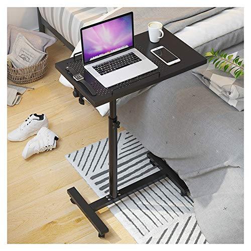 LQIAN Bett Rolltisch Pflegetisch Multifunktions-Beistelltisch Höhenverstellbar Geeignet for Schlafzimmer, Wohnzimmer, Sofa (Color : Black)