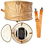 Stora Pop Up Hat Bag with Travel Strap – Hat Storage Box – Stackable Storage Container – Closet Organizer – Rustic (1 Pack)