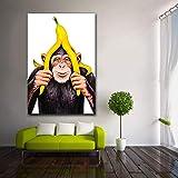 KWzEQ Imprimir en Lienzo Carteles y Fotos de chimpancés decoración de la Pared decoración para Sala de arte45x68cmPintura sin Marco