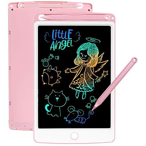 SCRIMEMO Tableta de Escritura LCD 8,5 Pulgadas, Pantalla Colorida, Tableta Gráfica Portátil Tableta de Dibujo, Ideal para Niños y Adultos Uso en el Hogar, la Escuela y la Oficina (Rosa)