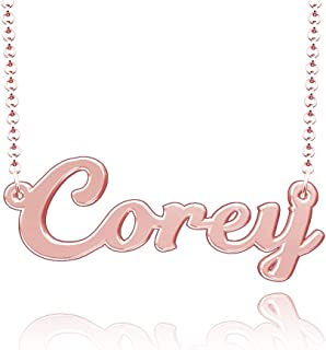 Personalized Custom Name Necklace Script Initial Nameplate Necklace for Women
