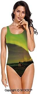 SCOCICI Swimsuit Bikini Wild Claws Sctrach Damage on Rusty Iron Background Shar