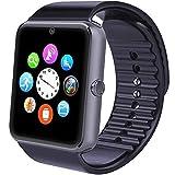 smartwatch, smart watch phone android ios wear con sim card slot fotocamera orologio watch braccialetto per iphone huawei samsung smartphone