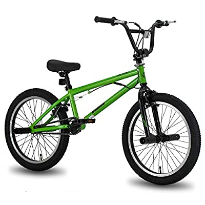 Hiland 20 Inch Kids Bike BMX Bicycles Freestyle for Boys Teenagers Green