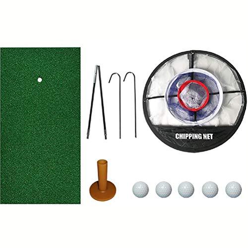Mo&Ny Red De Práctica De Golf, Paquete De Red De Élite De Golf Golf Elite, Red De Entrenamiento De Estera De Práctica De Golf, Campo De Prácticas Portátil Jaula De Golf Interior Al Aire Libre
