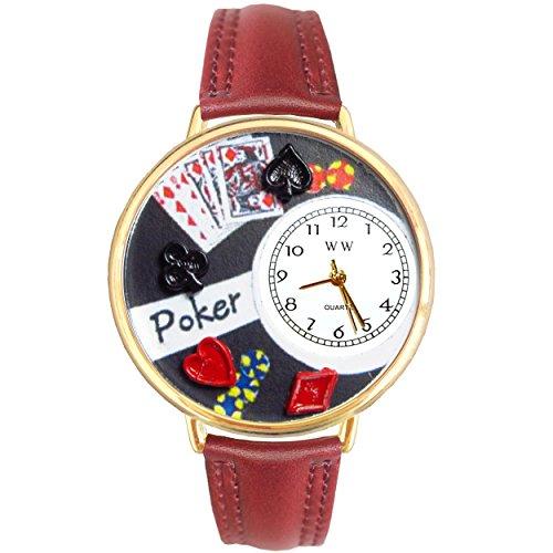 ポーカー ゴールドレザー ゴールドフレーム時計 #G0430004