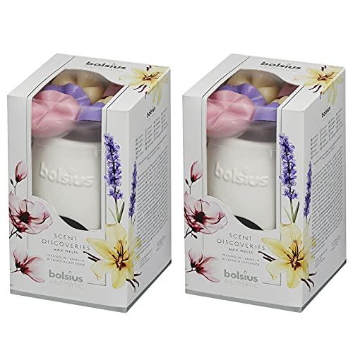 bolsius 2 Pack Aromatic Starterpack Duftlampe & Wax Melts Geschenksets