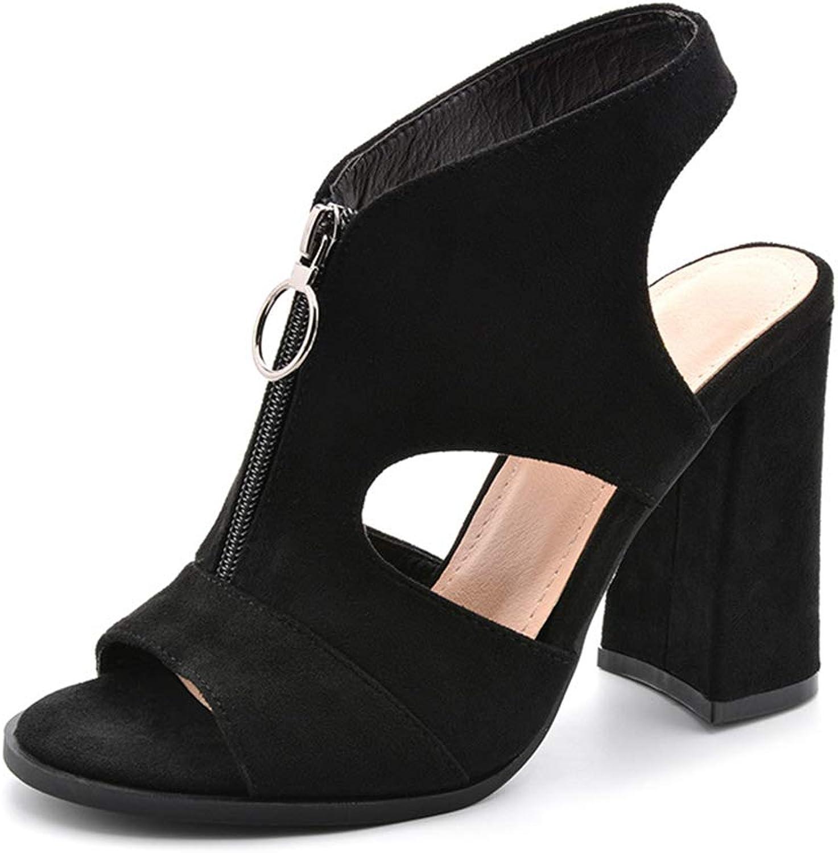 Linson123 Sandals Sexy Wild Women's Zipper high Heel Wedding Dress Party shoes Large Size
