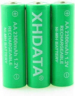 XHDATA 2300mAh Ni-MH AA Rechargeable Battery Suitable for Radio Pack of 3 Green