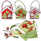 3PCS Bolsas de regalo de Navidad, Bolsas para dulces, Bolsas de fieltro de decoración navideña, Bolsas de regalo, Bolsas para rellenar para fiestas navideñas