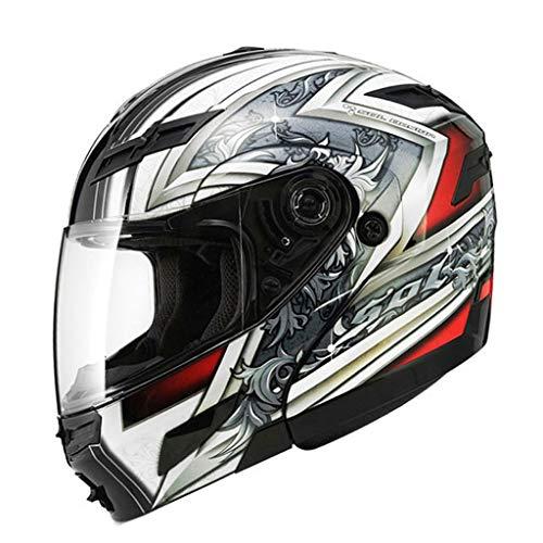 Casque moto double casque mâle et femelle casque intégral (Couleur : C-XXL61-62CM)