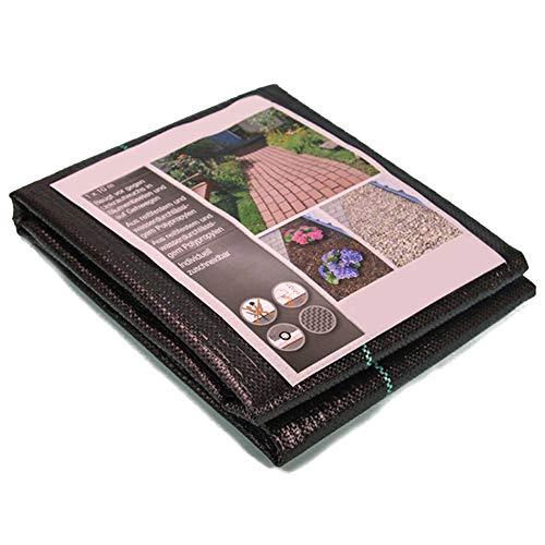 Warooma Unkrautschutzvlies, hochwertiges Geotextil-Gewebe, Bodenschutzmatte für Blumenbeet, Mulch, Pflaster, Einfassung, Gartenstecker