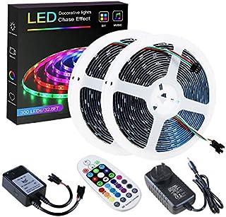 SPARKE DreamColor Led Strip Lights, 32.8ft/10m Music Sync LED Light, Waterproof RGB 300Leds SMD5050 Flexible Strip Lightin...