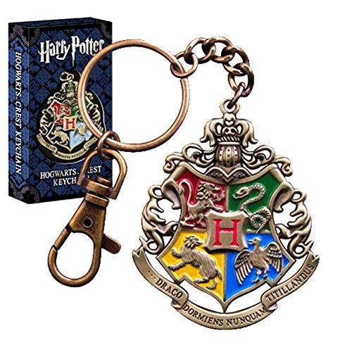 HARRY POTTER Oficial Hogwarts Crest Diecast Metal Llavero - En Caja