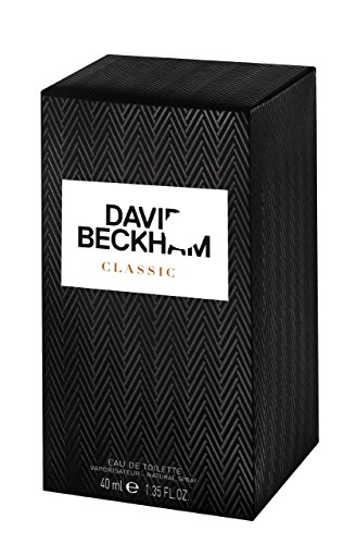 David Beckham Homme classique en flacon vaporisateur pour lui 40 ml avec sac cadeau