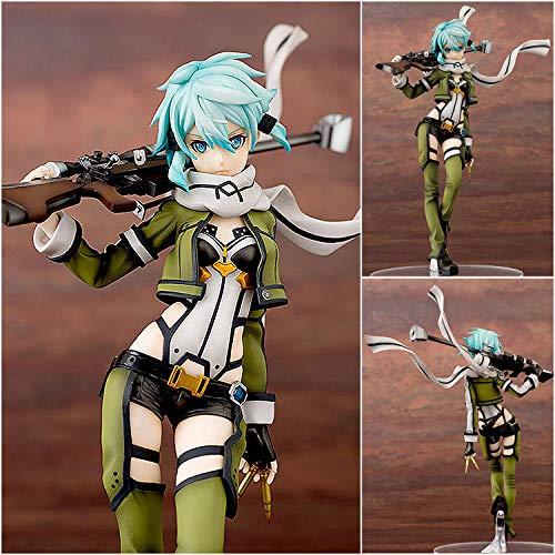 MNZBZ Hot Anime Sword Art Online (Sao) Sinon Figura de acción Gun Gale Online (GGO) Personajes Shino Asada Juguetes