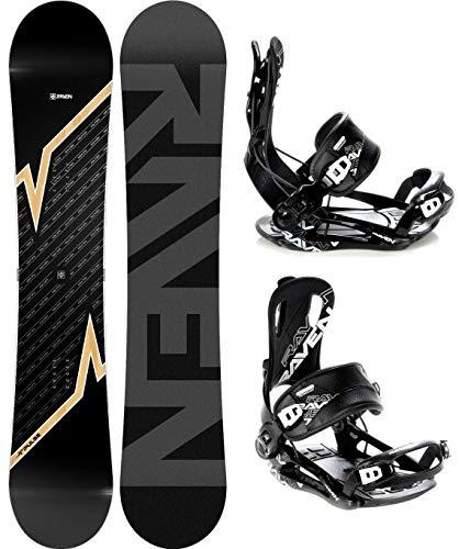 RAVEN Snowboard Set: Snowboard Pulse 2020 + Bindung Fastec FT270 (170cm Wide + FT270 Black XL)