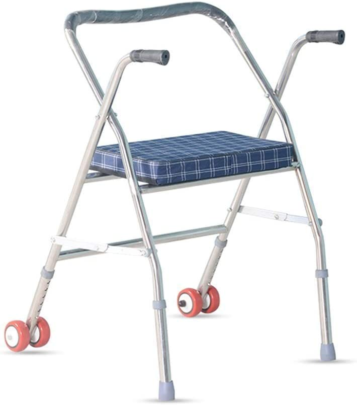 QIQIZHANG Walkers for Seniors with Seat Max Memphis Mall 69% OFF Rollators Walker