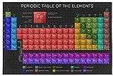 ChuYuszb Puzzle Rompecabezas 1000 Piezas Tabla periódica de los Elementos Rompecabezas Negros 1000 Piezas Juego de descompresión de Madera para Adultos Hombres