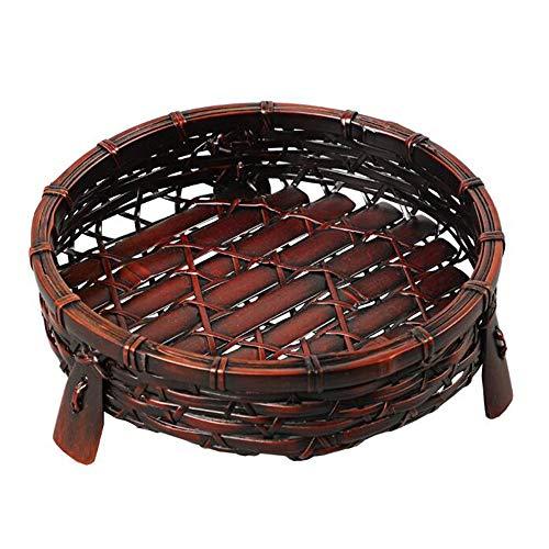 Houten Fruit Bowl, Pastorale Stijl Handgemaakte Bamboe Geweven Brood Snoep Mand Opbergdoos Voor Keuken Desktop Decoratie