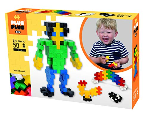 Plus-Plus 300.3271 Big Basic Mix 50 pezzi, Multicolore