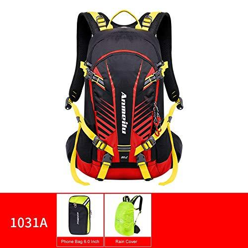CHUJIAN ANMEILU 20L Waterproof Climbing Bag Trekking Rucksack Outdoor Sports Bag Men Women Travel Backpacks Camping Hiking Backpack Bag (Capacity : 20L, Color : Red Color)