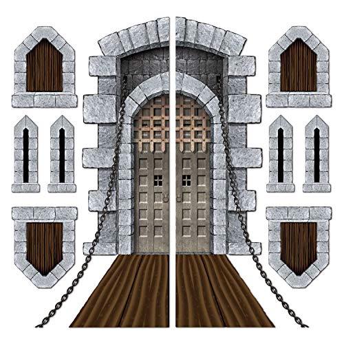 Beistle Printed Castle Door and Window Props, 16' to 5' 4', 9 Pieces in...