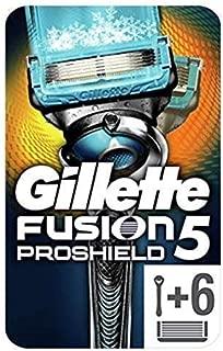 Gillette Fusion5 ProShield Chill - Maquinilla de afeitar con 6 recambios, paquete apto para el Buzón de Correos