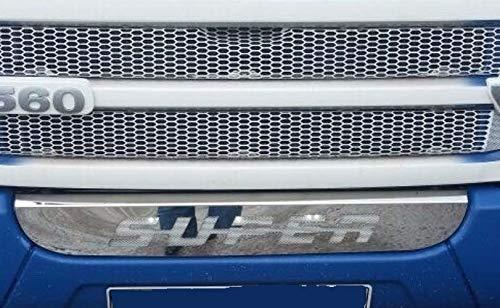 Gepolijst RVS front grill SUPER badge onderbumper voor Scania R 2010-2015