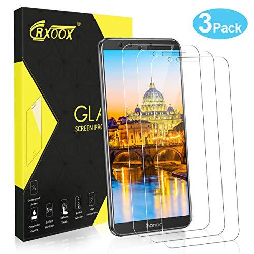 CRXOOX [3 Pezzi] Vetro temperato per Huawei Honor 9 Lite, Pellicola Proteggi Schermo Senza Bolle, 9H Durezza Ultra-Clear Copertura, Facile Installazio
