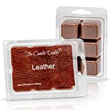 The Candle Daddy Leather Scented Melt- Maximum Scent Wax Cubes/Melts- 1 Pack -2 Ounces- 6 Cubes