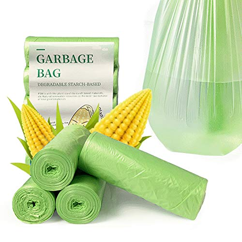 DRWhem Bolsas de basura compostables de 20 l, 100 unidades, 100 % biodegradables y compostables, bolsas de basura de almidón de maíz para cocina, comedor, jardín, oficina, mascotas