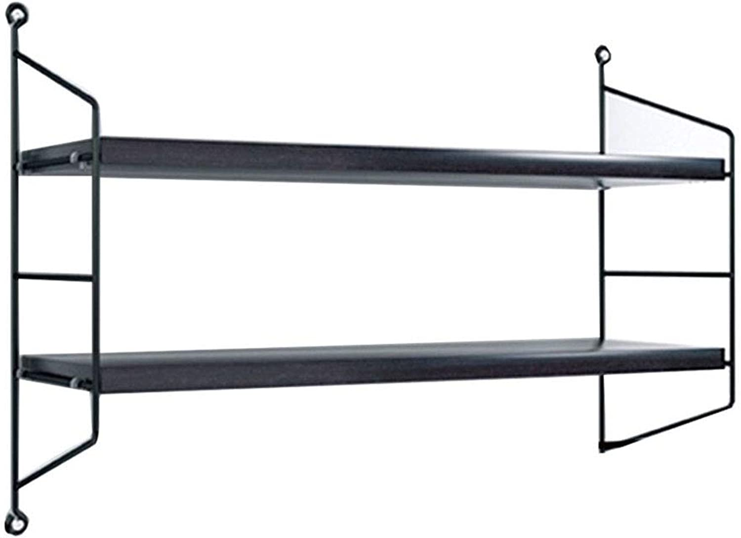 Wall Cabinets Rack Wall Hanging Rack Wall Storage Rack Home Display Stand partition Living Room Bedroom Wrought Iron Display Stand Free Punch Load 30kg Wall Cabinets