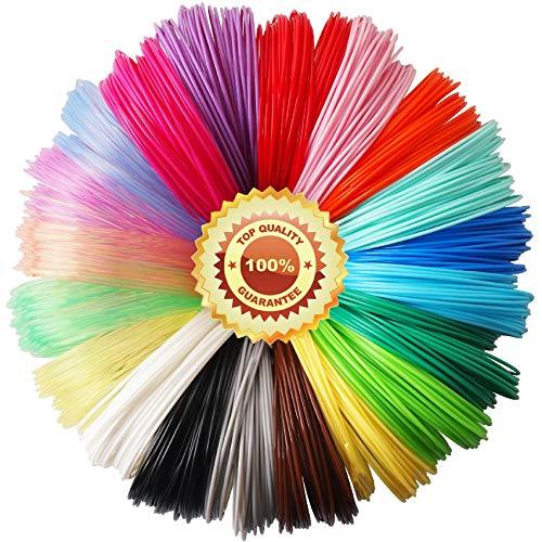 TTYT3D Lot de 20 recharges en filament PLA pour stylo 3D 20 couleurs, 20 pieds de chaque couleur, au total 400 pieds de TTYT3D, ne convient pas pour stylo 3Doodler